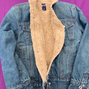Vintage GAP denim Sherpa trucker jacket S wmns